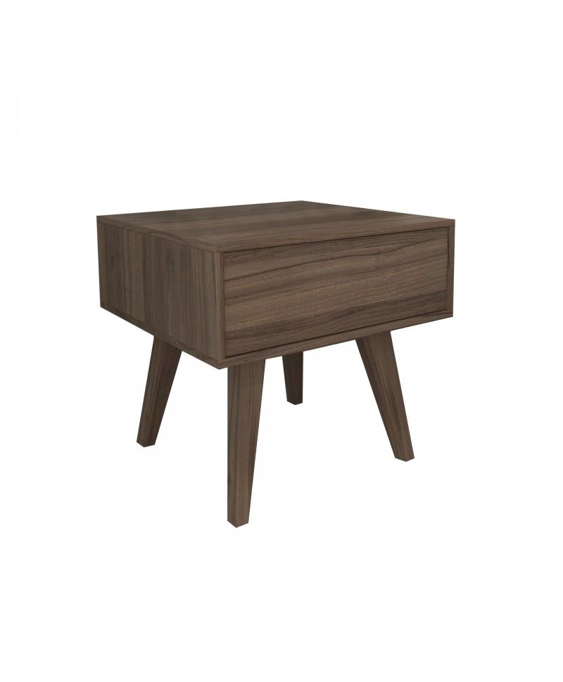 Mesa de Cabeceira 1 Gaveta Canto