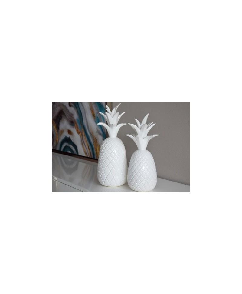 Ananás em Cerâmica Branco